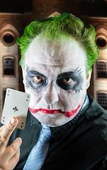 Joker (akumaohz) Tags: portrait people color green ass halloween germany deutschland person nikon colorful mask makeup indoor karte portrt card batman joker grn farbe fasching karneval personen maske drinnen schminke d3200
