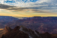 Last light in the canyon (Fred Moore 1947) Tags: sunset arizona sky clouds landscape us unitedstates grandcanyon grandcanyonvillage