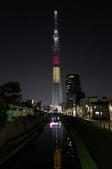 L1060217 (Zengame) Tags: leica tower japan architecture night tokyo belgium illumination landmark illuminated jp   belgian summilux     skytree  leicaq  tokyoskytree   summilux1728 q 1728