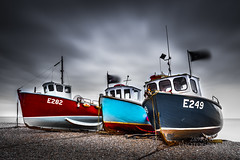 Beer's beach boats (289RAW) Tags: seascape beach beer clouds landscape boats big fishing long exposure devon lee stopper 6d 289raw