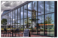 reflections (MaxAmy Photography) Tags: color reflection nikon theater fotografie outdoor border hdr molen spijkenisse windmil putten creatvie tonemapping