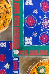 Rangoli - 8th November 2015 (princetontiger) Tags: blue design pattern kenya geometry powder diwali tealight rangoli powdercolour