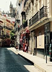 verso la cattedrale... (piera tedde) Tags: street sevilla colore andalucia via viaggio spagna siviglia