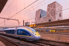 2016.06.22_11642_Utrecht Centraal_Eurostar_4014/4013 (rcbrug) Tags: sunset evening zonsondergang utrecht eurostar avond utrechtcentraal proefrit