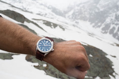 "The Alpina Watches ""Alpiner 4 Automatic"" with Glacier Blue Dial AL-525NS5AQ6 on the Mont Blanc (Alpina Watches) Tags: mountain snow france alps sports field sport geneva watches 4 alpina watch climbing timepiece alpine automatic wrist climber mont blanc luxury depth ascension montblanc alpinist alpiner alpinawatches alpina4 alpiner4 al525ns5aq6"