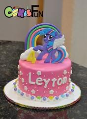 My Little Pony cake (bsheridan1959) Tags: cake fondant pony pink purple rainbow clouds childrenscake birthday girlscake