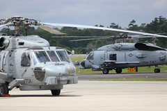 704, 707, MH-60R Seahawk, North Myrtle Beach, South Carolina, Memorial Day 2016, (hondagl1800) Tags: blue aircraft navy southcarolina helicopter vehicle rotary 710 704 seahawk northmyrtlebeach mh60r swampfox mh60rseahawk memorialday2016