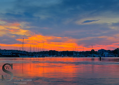 Tonights Sunset over the Milford Yacht Club and marina (Singing With Light) Tags: 2016 25th alpha6000 gulfbeach milford mirrorless morningstroll ny nyc singingwithlight sonya6000 beach connecticut may photography pond singingwithlightphotography sony sunset