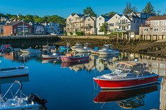 Morning Reflections (jlucierphoto) Tags: morning summer water reflections boats harbor boat waterfront outdoor massachusetts newengland harborside rockport capeann