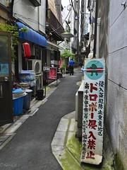 Thieves  not allow to enter! (kura51) Tags: summer june tokyo alley    arakawa  2016  minowa    gx7 1235f28 qwxszxki