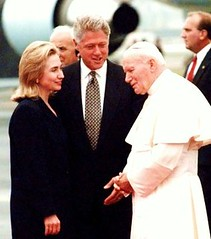 1990s - Pope, Hillary, Bill Clinton at Newark Airport - Before Monica (ramalama_22) Tags: park new elephant pope lady john paul us bill airport whitewater waco fort sister massacre clinton aircraft united president mary steps vince first motel marcy foster monica ii hillary jersey bimbo former states turnpike newark crafty scandal eruption humble reservation intern lewinsky arkancide