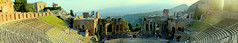 Panoramica Taormina 180 (moniq84) Tags: sunset summer italy sun seascape landscape teatro holidays italia tramonto day estate view theatre sunny panoramic 180 panoramica vista sicily sole terra taormina etna italie sicilia fuoco paesaggio messina vacanze vulcano greco sicile gradi