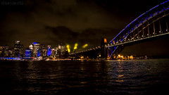 Vivid Sydney - DSC03935-6 ilce a6000 (cleansurf2 Urbex) Tags: city bridge wallpaper urban building water architecture night landscape lights screensaver background sydney vivid 16x9