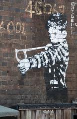 Dawlish Banksy (thorley_lee) Tags: street sea art wall by photography graffiti holidays outdoor banksy cheeky slingshot dawlish canon400d