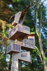 Fly Away Home (sfryers) Tags: park sculpture art ex nature dc community yorkshire sigma wakefield habitat 114 birdboxes 30mm flyawayhome ashamunn