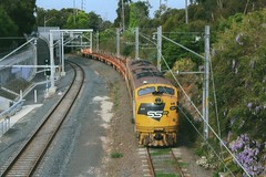 S317 at Kirrawee. (Free Rail Photography.) Tags: railroad train diesel sydney railway australia s bulldog class line southern nsw infrastructure locomotive ssr shire sutherland freight cronulla streamliner trackwork bullnose shorthaul
