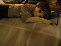 Sleepy Time 002 (EmpathicMonkey) Tags: toby ball toys happy monkey photo dolls olive story bjd jointed bluefairy