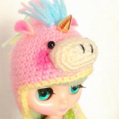 Golden Horn (EssHaych) Tags: cute hat doll helmet kawaii blythe horn etsy custom unicorn middie erikosemporium