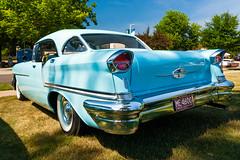 1957 Oldsmobile 88 (hz536n/George Thomas) Tags: summer copyright canon michigan canon5d flint carshow olds oldsmobile 2016 ef1740mmf4lusm cs5 sloanmuseum sloanmuseumautofair