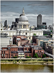 Overlooking St Paul's... (kevingrieve610) Tags: st pauls cathedral london city depth fujifilm flickr wow xf60mm