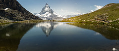 Reflection of the Matterhorn over the Riffelsee (SagarMohanty) Tags: nature landscape switzerland swiss gornergrat zermatt matterhorn riffelsee metterhorn