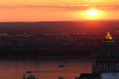 Sunset over New Jersey from the Top of The Rock (Hazboy) Tags: new york city nyc usa ny apple rock america square us big manhattan may center midtown times rockefeller 2016 hazboy hazboy1