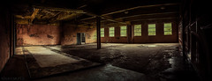 Urbex pano - DSC3828 (cleansurf2 Urbex) Tags: old windows light shadow urban panorama color colour building texture abandoned architecture dark graffiti industrial decay background widescreen room sony rustic age worn a7 urbex leadinglines a7ii emount ilce7m2