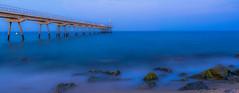 El Silencio del Alma (Nicols Rosell) Tags: barcelona longexposure espaa beach point landscape puente spain nikon europa europe playa paisaje catalonia catalunya bluehour badalona d7100 nikond7100