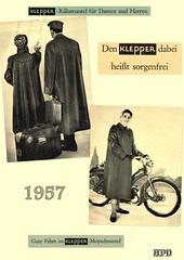 Kleppermode 1957 (hpdyko) Tags: 1957 raincoat klepper regenmantel kleppermantel kleppermode