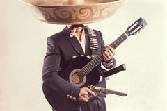 Mariachi Samurai (Mike Rollerson Photography) Tags: red costume outfit uniform gun cosplay guitar cigar pistol mariachi samurai sombrero mariachisamurai luisprojects