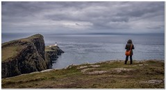 Neist point (Hugh Stanton) Tags: cliff lighthouse coast top tourists