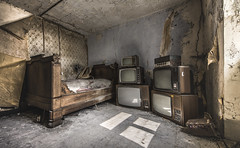uefa eurocup 2016... I cannot decide which match to watch! (marco18678) Tags: world old light urban abandoned beautiful lost photography tv bed nikon europe natural decay exploring watch eu naturallight forgotten d750 luxembourg tamron uefa decayed ue eurocup urbex 1530