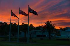 hi australia  (nzfisher) Tags: leica morning sky clouds sunrise 35mm dawn twilight flag australia summilux toowoomba