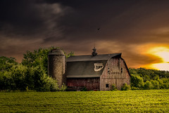 Irreparably Broken (henryhintermeister) Tags: summer minnesota clouds rural outdoors farming barns sunsets oldbarns nostalgia farms pastoral mankato countryliving rainstorms