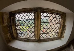 Looking through the window - Bolsover Castle (AngelCrutch) Tags: castle bolsovercastle bolsover window view glass light patterns shapes history landscape britain england uk derbyshire