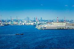 Yokohama (Arutemu) Tags: asia asian japan japanese japon japonais japonesa japones japonaise kanagawa yokohama yokohamabay port sea city cityscape canon ciudad ocean shore