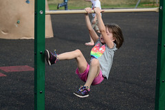 A Day at the Park (Vegan Butterfly) Tags: park people girl playground outside outdoors person climb kid vegan child climbing hanging homeschool hang homeschooling