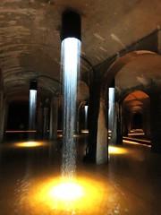 Cistern under Copenhagen, water art. (Betty Olsen) Tags: water art cistern copenhagen underground light path labyrint denmark chadows