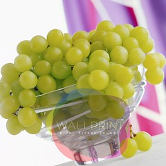 CB060252 (wallprintco,.ltd) Tags: tablegrapes whitegrapes grapes fruits green purple color violet bowls glass curtains kitchenware windowcoverings furnishings drapery materials nobody