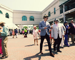 Kentucky Derby Gents (Kevin VanEmburgh Photography) Tags: street travel kentucky sony crowd streetphotography racing dressedup louisville horseracing noise races churchilldowns kentuckyderby colorgrading sonya7 kevinvanemburghphotography