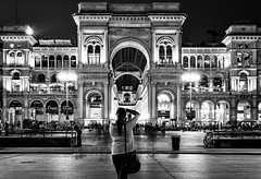 Imposing Subject (Petricor Photography) Tags: street city urban blackandwhite italy white black milan photography cityscape candid milano landmark and canonpersonalconnection