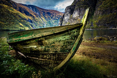 Blending In (Curtski22) Tags: old autumn fall nature norway boat no woodenboat aurlandsdalen sognogfjordane vassbygdi nationaltreasures