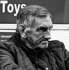 Grumpy old men. (Neil. Moralee) Tags: street old uk portrait bw white man black monochrome face mono nikon close candid neil devon mature grumpy teignmouth d7100 moralee neilmoralee teignmouth2016neilmoralee irasible