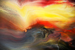 Fluid Landscape (markchadwickart) Tags: blue sunset red sea white seascape storm abstract black color colour art yellow modern sunrise work landscape flow artist waves purple bright mark contemporary vibrant fine vivid canvas fluid flowing colourful sublime liquid epic smashing chadwick fluidity