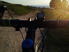 Cleeve Hill Cotswolds , Sunset (Carrotcakesoul) Tags: sunset hill cx cotswolds cheltenham cleeve bontrager