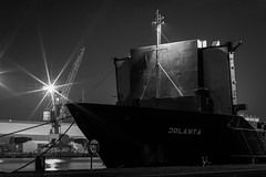 Jolanta at Rest (ColinParte) Tags: industry night docks harbor nightshot harbour crane ships belfast cargo silo cranes coal shipping jolanta