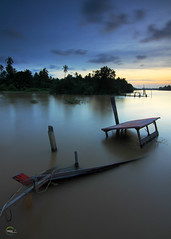 .:: Abandoned II ::. (Fared Shamsuddin) Tags: city longexposure sunset sky cloud color reflection nature canon landscape big malaysia leefilter canon50d gnd09 tokina1116mmf28 gnd06 faredshamsuddin