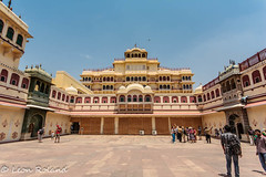 Jaipur City Palace (leon_roland) Tags: people india museum peacock adventure jaipur oat citypalace