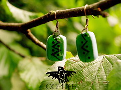 Tribal earrings (OOMISEH) Tags: earrings oomiseh glassjewelry handmade fashionjewelry             nativeindian tribal