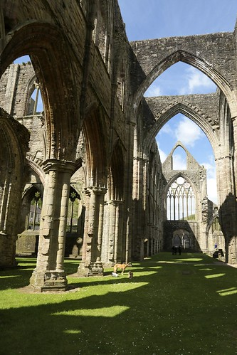 Tintern Abbey 4 Arches with Frank and Amber